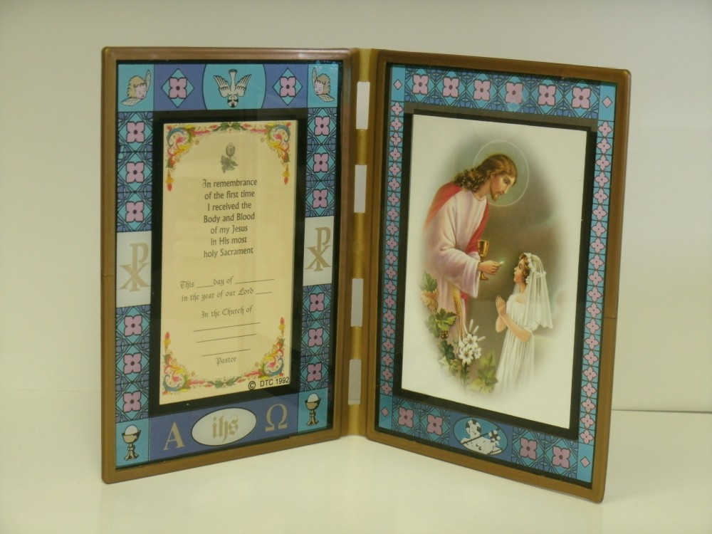 Girl\'s Stained Glass Frame – St. Bernard Books